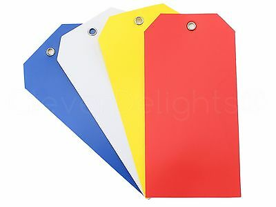 100 Plastic Tags - 4.75 X 2.375 - Tearproof - Inventory Id Price Tag Mix Pack