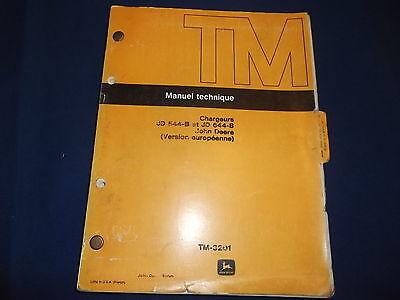 John Deere D544b Loader Technical Service Repair Shop Book Manual French Tm-3201