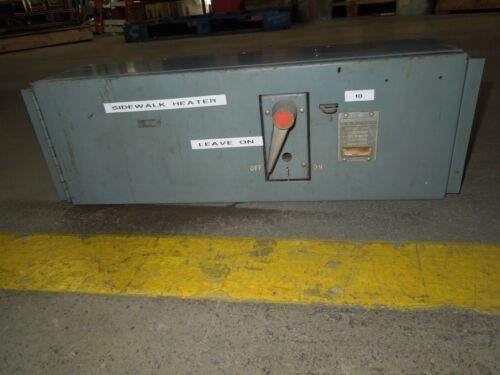 Fpe Qmqb1036 100a 3p 600v Single Fusible Switch Unit Used