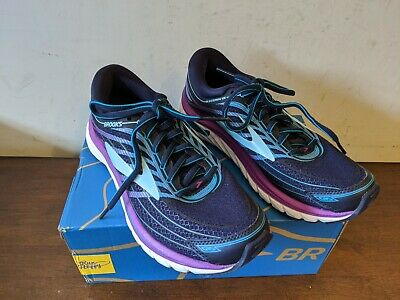 Brooks Women's Glycerin 15 Evening Blue/Purple Cactus/Teal Victory, 6 M US