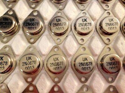 1 Piece 2n6678 Npn Hi Voltage Power Transistors To-3