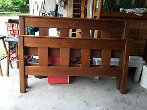 SOLID PINE QUEEN BED ENDS & SIDES NO SLATS Capalaba Brisbane South East Preview