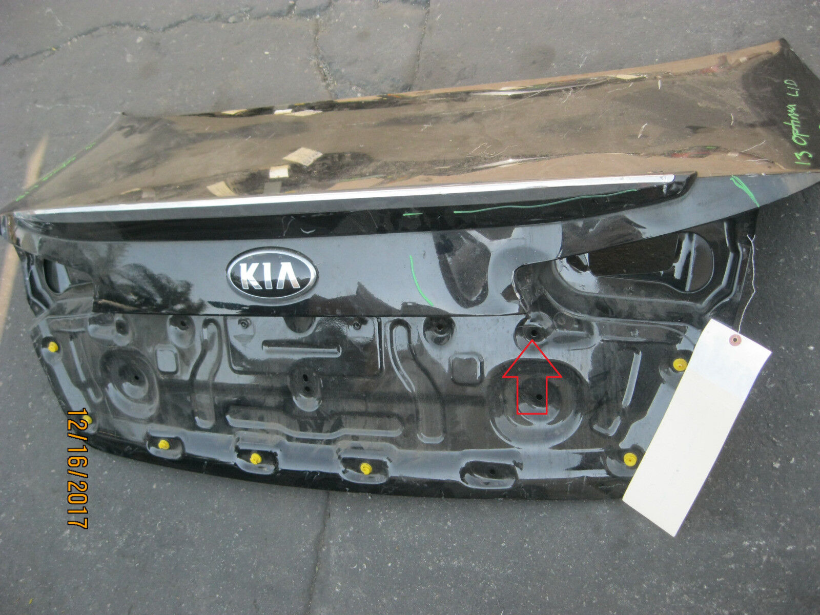 Used Kia Trunk Lids And Related Parts For Sale Page 7 Optima Rear Spoiler Lid Oem Stock 11 12 2011 2013 66186