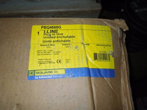 Square D I-line Pbq4660g Fusible Busplug 600amp 3ph 4w W/ Ground New Surplus