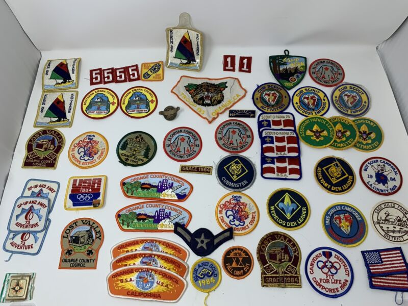 Mixed Lot Boy Scouts of America (BSA) California Patches (Council, Cubs Etc) VTG