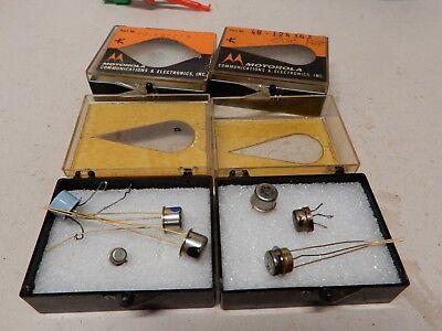 Motorola Transistor Boxes And Vintage Transistors As Shown
