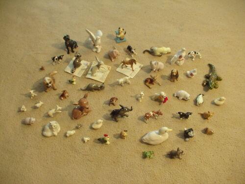 Miniature Porcelain Animal figurines lot of 51