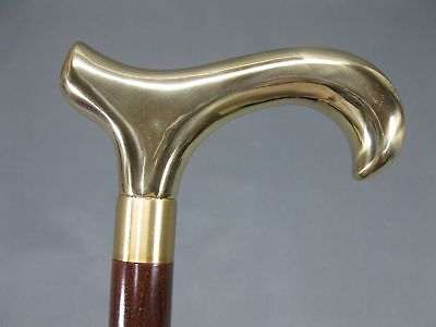 Brass Handle Vintage Style Wooden Shaft Walking Cane Stick Victorian Style Gift for sale  Shipping to Canada