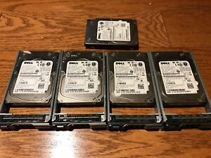 Lot of 5 Dell 73gb 15k rpm 2.5 SAS drives