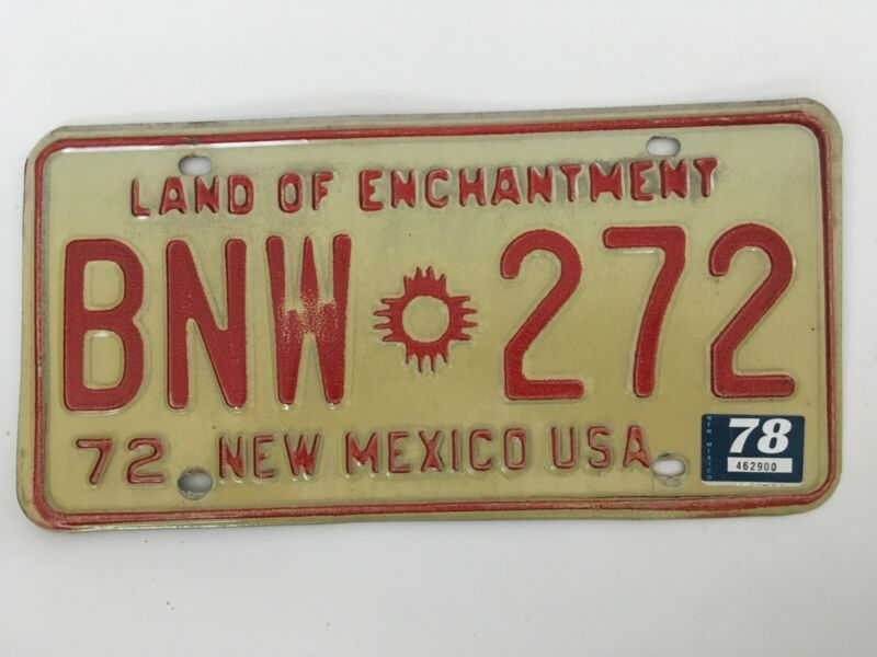 1978 New Mexico License Plate Natural Sticker