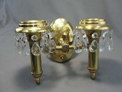Antique Vintage Art Deco 2 Light Brass After Sunset Lightolier Wall Sconce Lamp