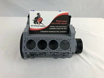 Chevy Camaro Ls3 V8 Engine Block Business Card Holder Display 3d Printed