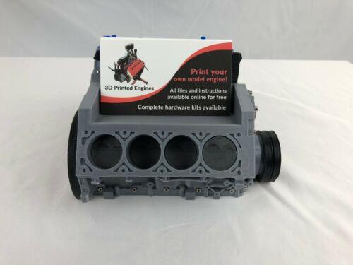 Chevy Camaro LS3 V8 Engine Block Business Card Holder Display 3D Printed