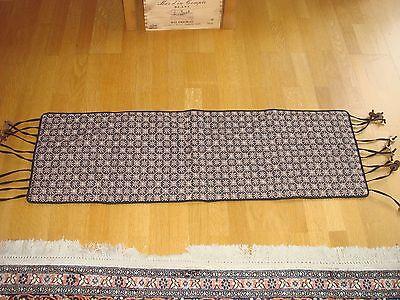 Brand New Quilted Batik Halus Table Runner Navy Beige Coconut Detail Design