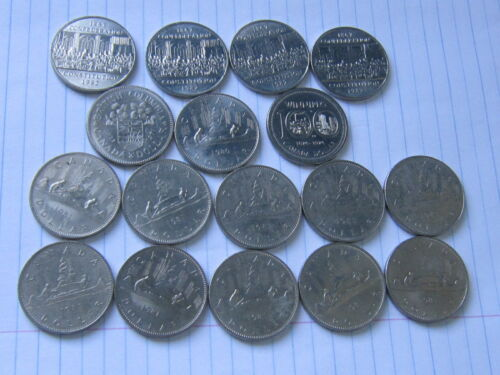 Lot of 17 Canada world coins #73