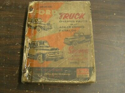 OEM Ford 1948 1955 Truck Pickup Master Parts Book Chassis Catalog 1952 1953 1954