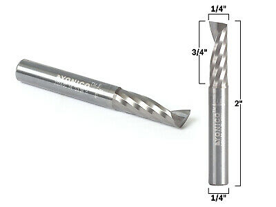 14 Diameter O Flute Upcut End Mill Cnc Router Bit 14 Shank - Yonico 31014-sc