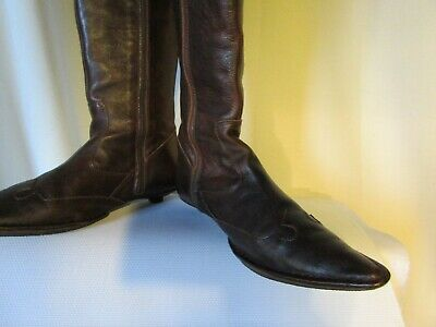 Bottes kickers cuir marron pointure 39