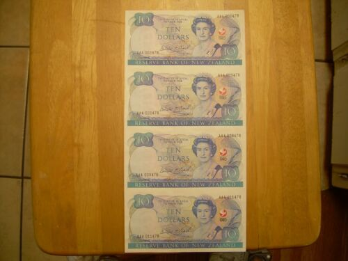 1990  $10  sheet of 4 notes-uncut-unc- take a look-