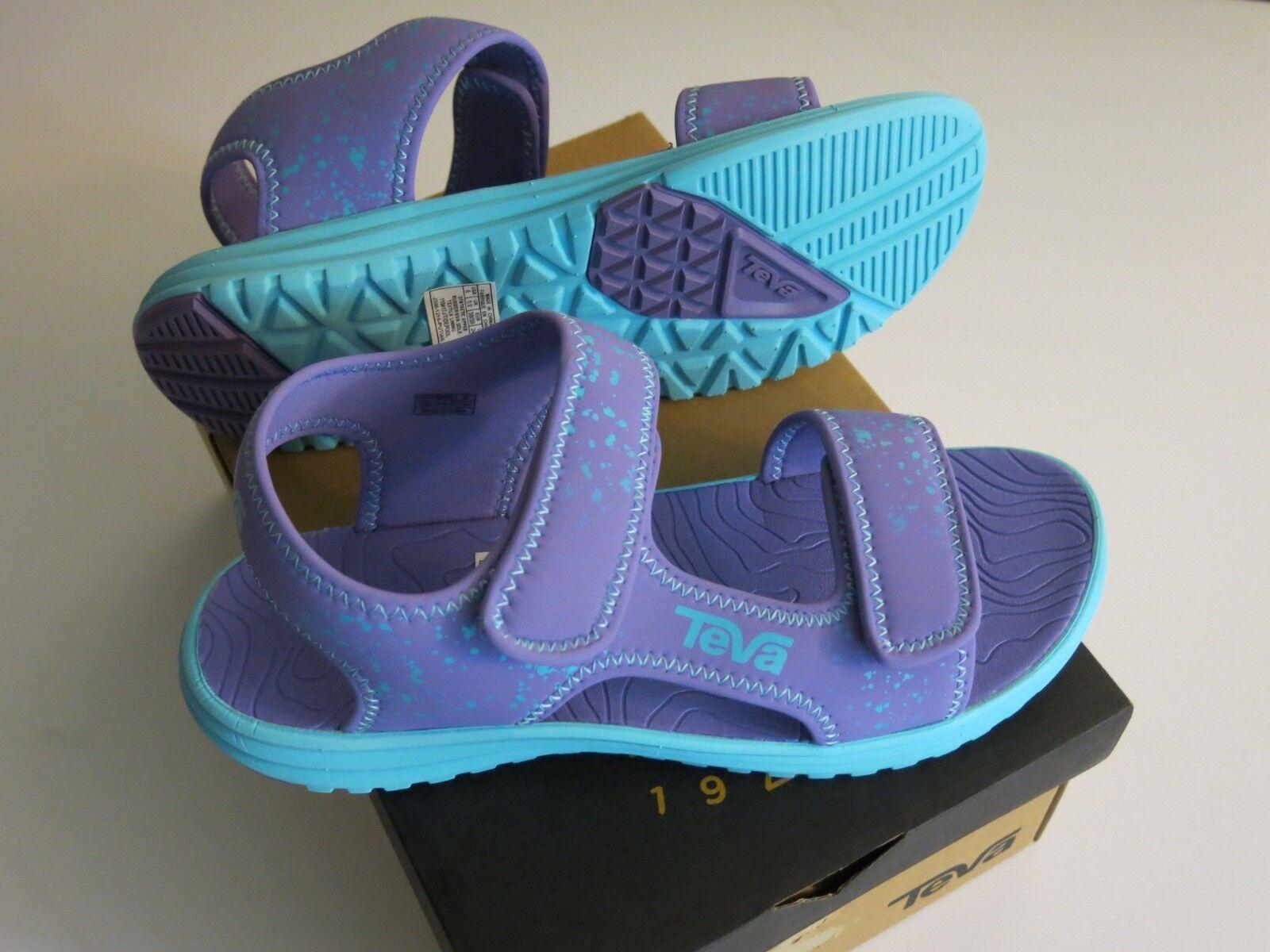 Teva Tidepool Big Youth Girl's 7 Sandals Purple Scuba Splatt