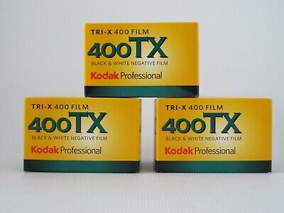 Kodak Tri-X 400 TX Black &White Film - 35mm, 36 Exp, 3 packs, dated 2022