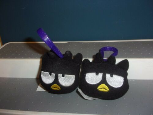 2001 McDonalds Sanrio  BADTZ-MARU Plush Keychain Clip 2 INCH LOT OF 2 FREE SHIP
