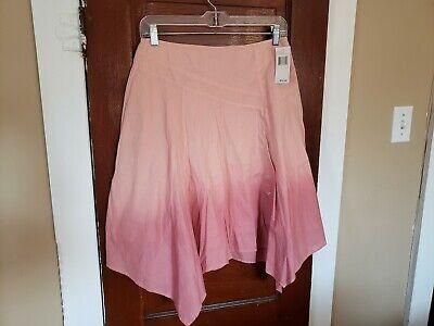 NWT DKNY Women's 8 Blush Ombre 100% Cotton Asymmetrical Skirt