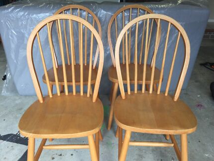 4 dining room chairs Belrose Warringah Area Preview