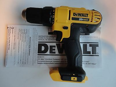 DeWalt DCD771B 20V 20 Volt 1/2