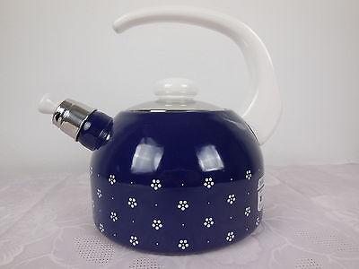 Flötenkessel Wasserkocher Teekessel Floetenkessel Riess Email Kocher Topf 2l (Tee-topf Für Induktion Herd)