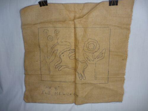 "Primitive Rug Hooking Pattern ""Mr B""  by Ewe and Me Bunnies Rabbits"