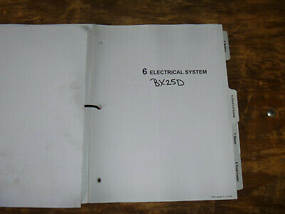 Kubota Bx25d Compact Tractor Loader Backhoe Electrical Wiring Diagram Manual