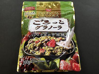 NISSIN Fruit Premium Granola Uji Matcha Green Tea 200g Japanese MADE IN JAPAN