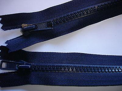 1 Reißverschluß YKK dunkelblau 62cm lang, 2-Wege-RV,nicht teilbar Y128