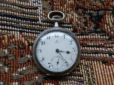 Vintage Omega Solid silver pocket watch