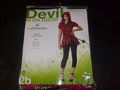 Cute Devil Halloween Costumes (Wicked CUTE DEVIL IN THE HOOD Halloween COSTUME SIZE SMALL NEW MIP Child Dress)