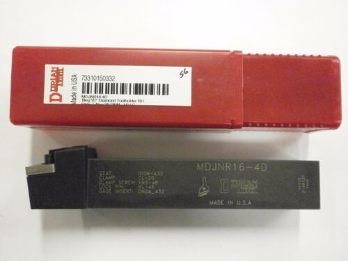 Dorian Tool MDJNR 16-4D USA Made Lathe Tool Holder DNMG 4 Carbide Insert 50332