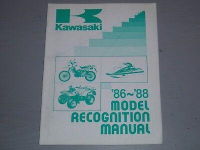KAWASAKI MODEL RECOGNITION  MANUAL, 1986-1988
