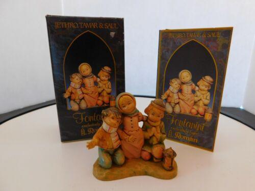 """Fontanini Italy """"Jethro, Tamar & saul""""  Figurine with Box & Card Roman"""
