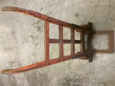 Vintage Dolly Two Wheel Cart Steel Wheels And Wood Frame