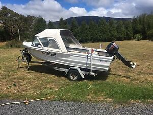 15 foot Quintrex boat - 30hp yamaha cv outboard New Norfolk Derwent Valley Preview
