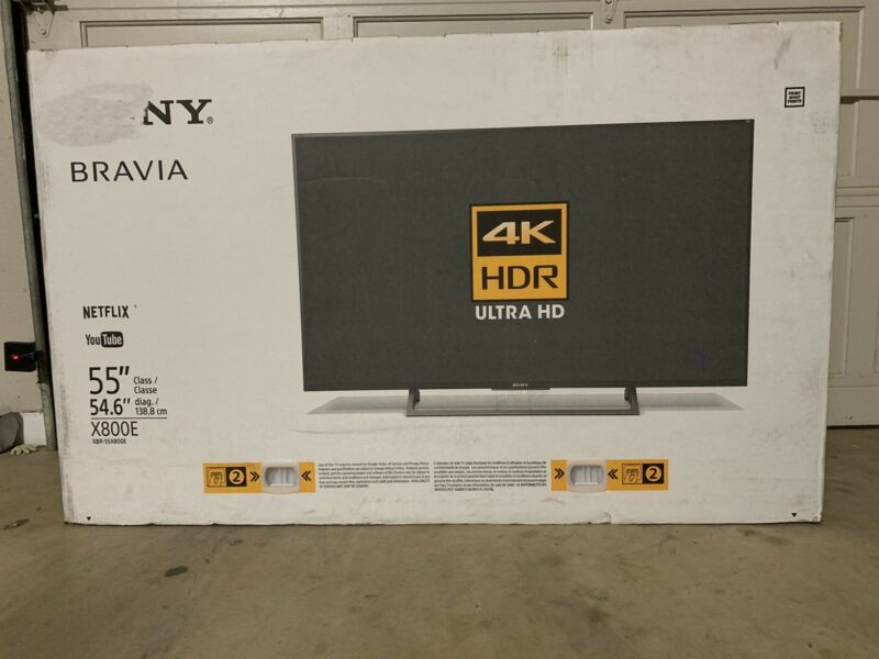 "Sony 55"" Class (54.6"" Diag.) LED 2160p Smart 4K Ultra HD TV with High Dynamic Range Black XBR55X800E"