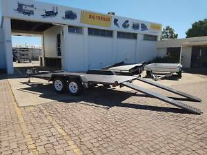 14x6'6 Car Trailer Tandem - Semi Flat With Ramps and Winch Post Garbutt Townsville City Preview