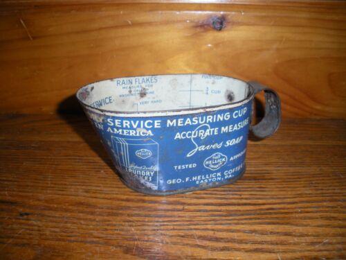 Vintage Metal Geo. F. Hellick Coffee Co. Laundry Measuring Scoop / Easton, Pa.