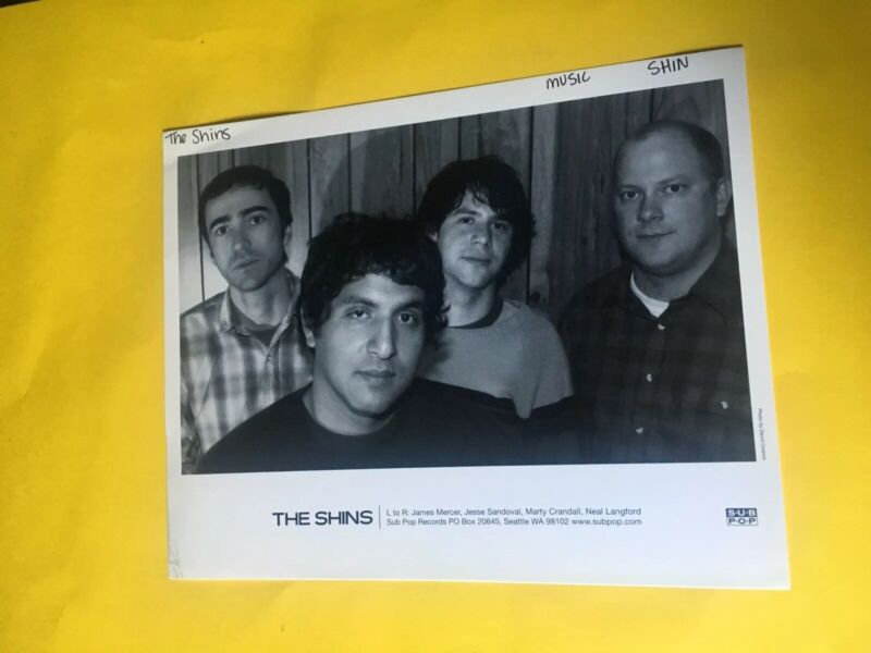 The Shins Press Photo 8x10, James Mercer, Jesse Sandoval, Marty Crandall, SubPop
