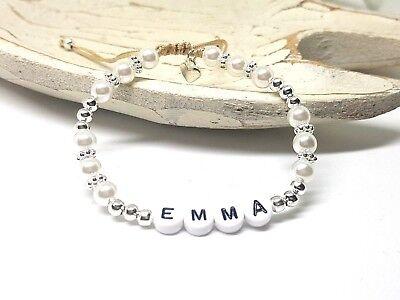 armband mit Perlen und Herz - Perlenarmband - Geschenk (Armbänder Mit Perlen)