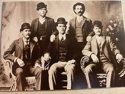 Postcard Photo Hole in the Wall Gang Outlaws Butch Cassidy Sundance Kid