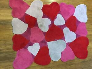 Girls Heart Bedroom Rug, Oakleigh South Oakleigh South Monash Area Preview