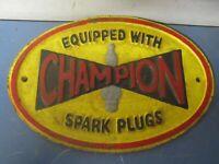 3top quality CHAMPION SPARK PLUG porcelain coated 18 GAUGE steel SIGN