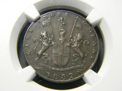 India 1832 1/4 Anna Bombay Presidency NGC VF 35 BN